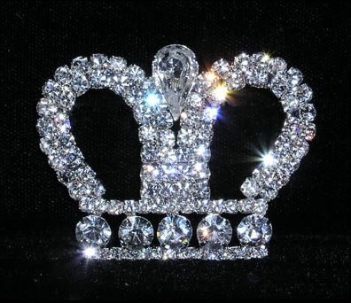Crystal Crown Pin