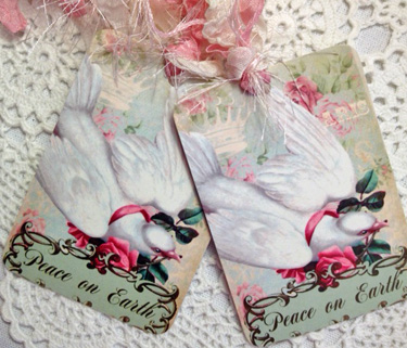 Christmas Dove Gift Tags