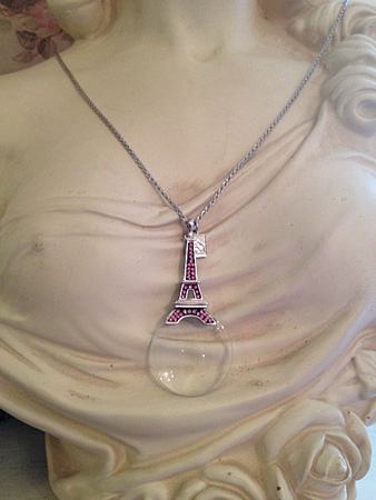 Eiffel Tower Necklace Pink