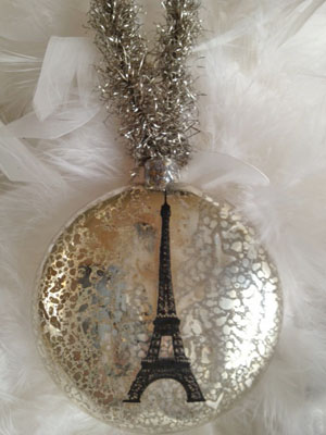 Eiffel Tower Mercury Ornament