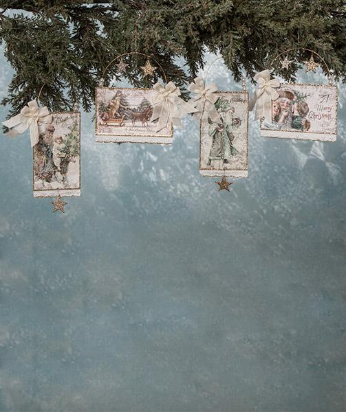 Elegant Postcard Ornaments