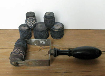 French Antique Stamp Roller Set
