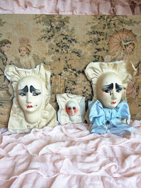 Vintage French Pierrot Boudoir Doll Faces