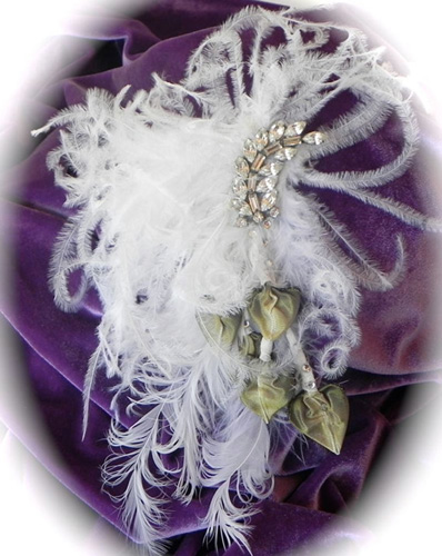 Feather Fascinator White