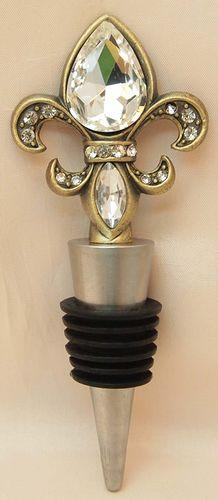 Fleur de Lis Wine Bottle Stopper 2 Colors