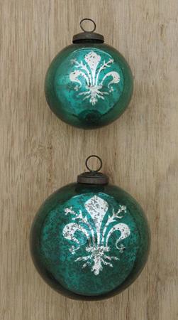 Mercury Glass Ornament Fleur De Lis
