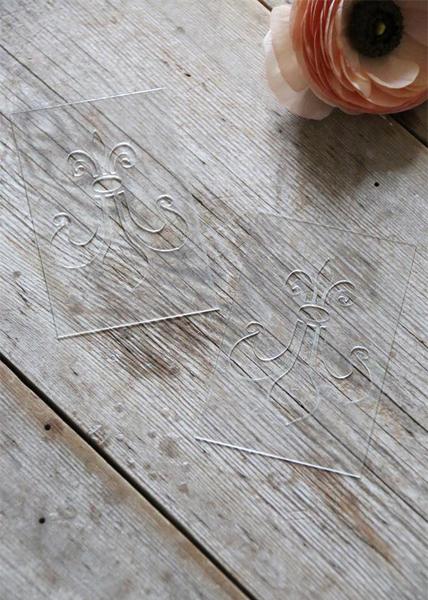 Petite Fleur de Lis Stencil