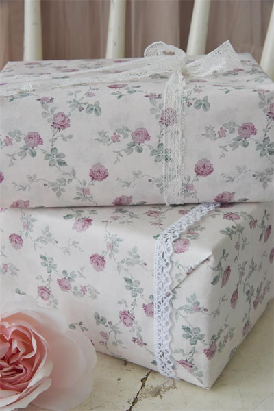 French Roses Gift Wrap Roll