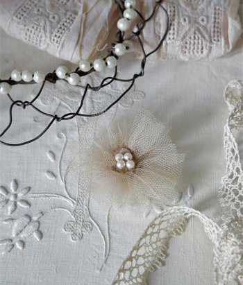 Vintage Flower With Pearls