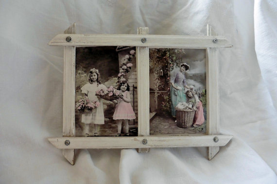 Antique French Post Cards Framed