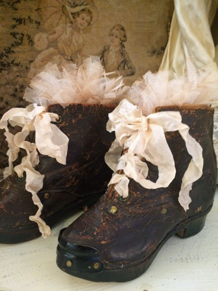 Antique French Baby Boots