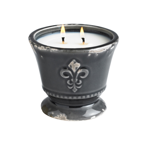 French Velvet Urn Candle