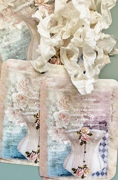 Parisian Corset Roses Card Set