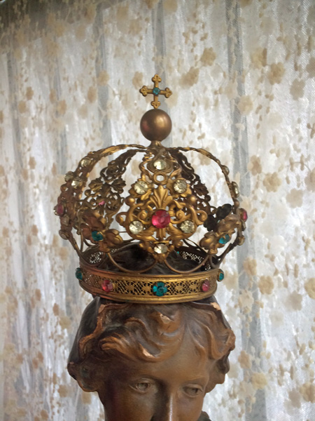 Antique French Santos Crown Royale