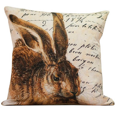 French Hare Pillow Slip
