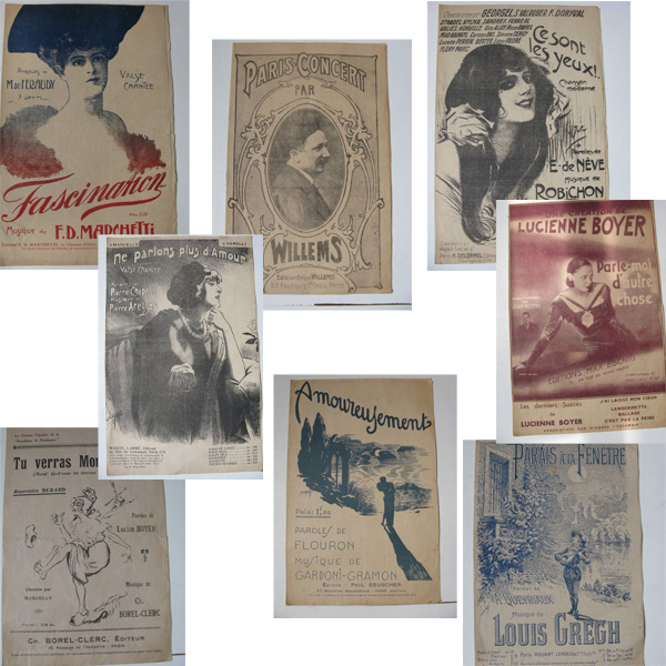 Antique French Sheet Music Lot