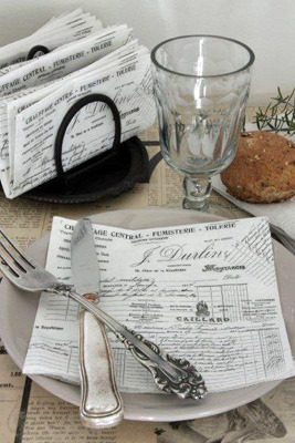 French Script Napkins