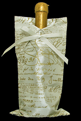 French Papers Wine Bag