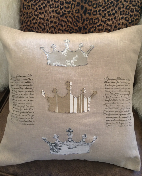 French Linen Crown Pillow Slip