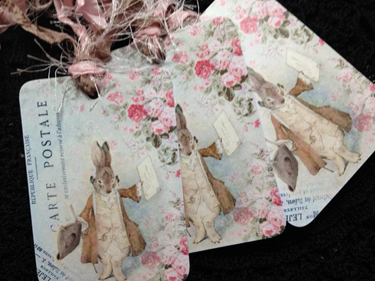 French Rabbit Gift Tags