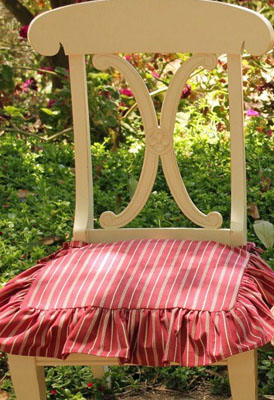 Farmhouse Red Chair Slip