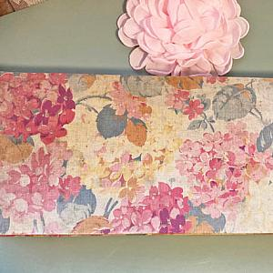Antique French Roses Fabric Covered Boudoir Gloves Box Box