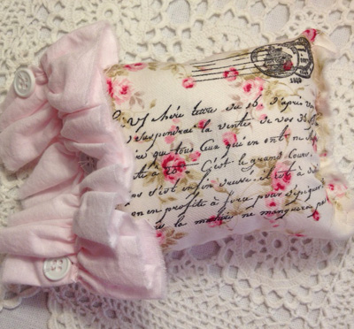 French Lavender Ruffled Sachet