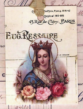 French Saint Gift Tags