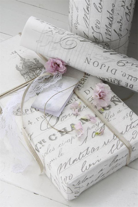 French Script Gift Wrap Special