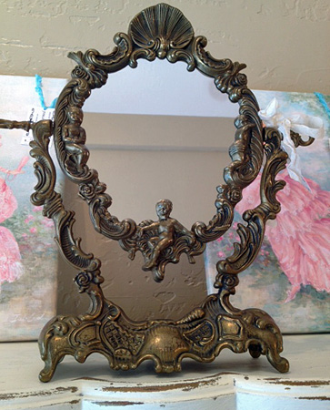 French Art Nouveau Vanity Mirror