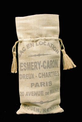 French Writing Wine Bag