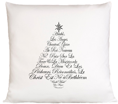 French Christmas Down Pillow