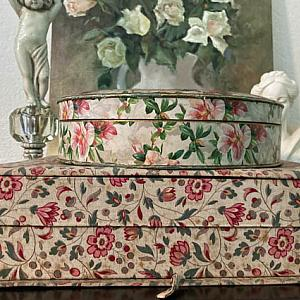 French Antique Sewing Box Chocolate Box Set