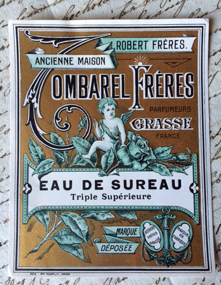 Antique French Perfume Label Freres
