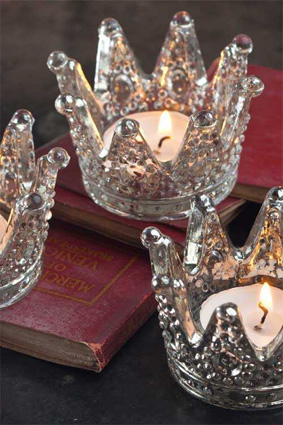 Mercury Glass Crown Votive's