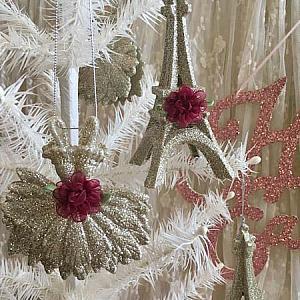 Paris Ballet Glitter Ornaments Style 3