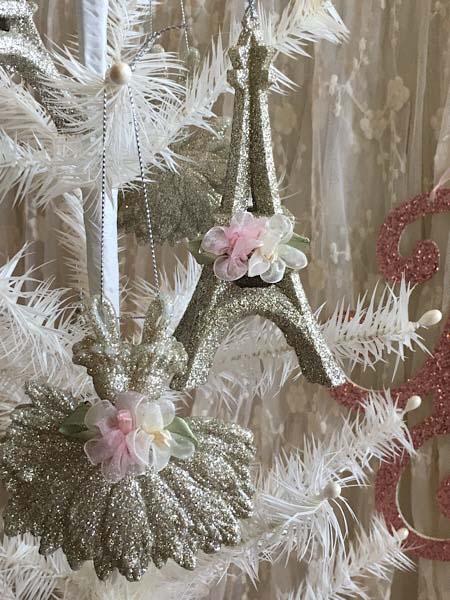 Paris Ballet Glitter Ornament Set Style 4
