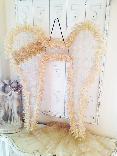 Vintage Elegance Angel Wings