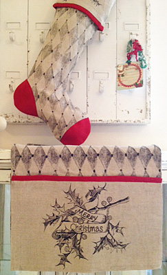 Harlequin Christmas Table Runner