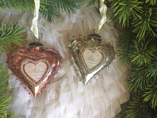 Pink And Silver Message Ornaments