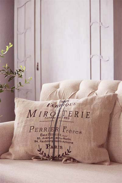 French Linen Pillow Cover