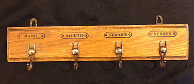 French Vintage Hook Rack