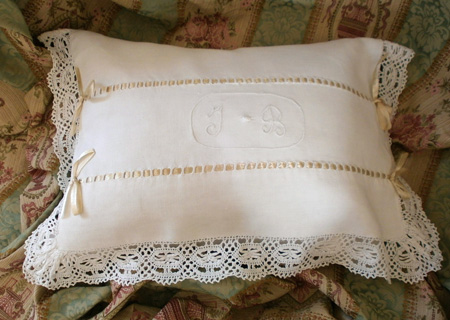 Antique Boudoir French Pillow Slip