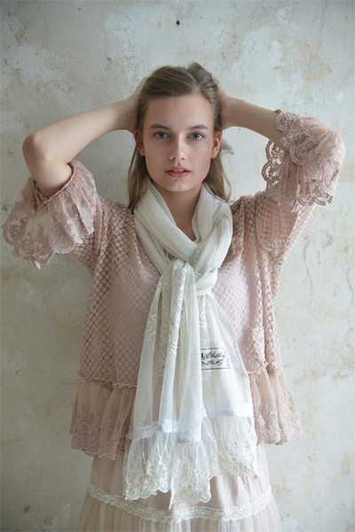 Gorgeous Ivory Tulle Scarf