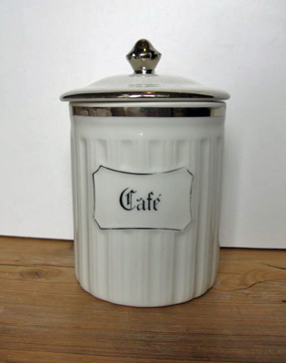 French Limoges Caf� Jar
