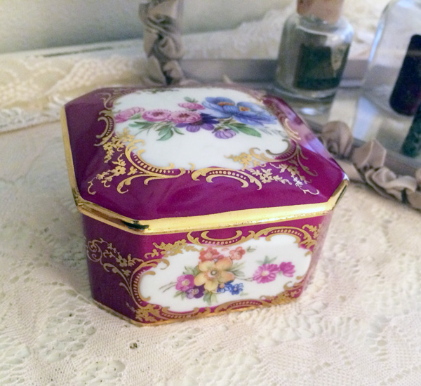 Pink Limoges French Trinket Box