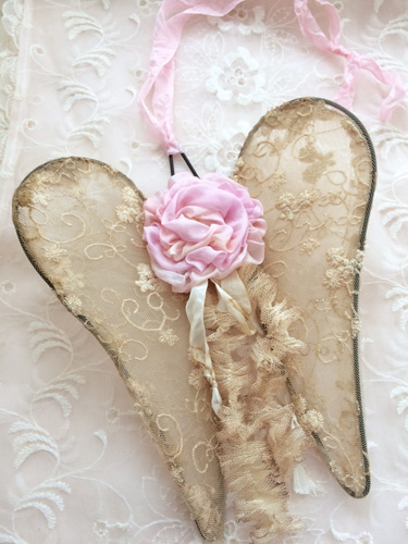 Paris Pink Rose Angel Wings