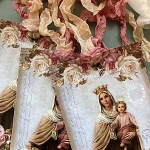 French Christmas MaDonna Gift Tags