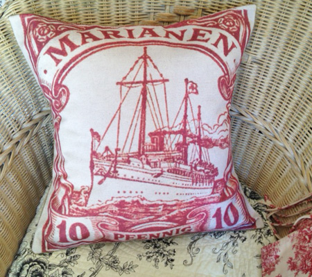 Nautical Ship French Pillow Cover