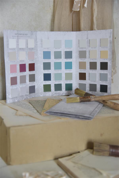 JDL Vintage Paint Color Chart